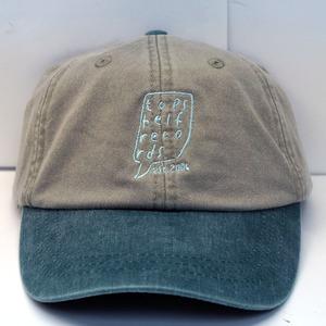Topshelf Records - Stone/Forest Green Embroidered Logo Baseball Hat