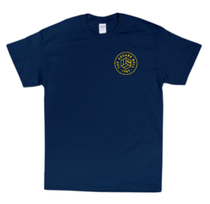 Navy Chest Print T-shirt