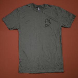 Topshelf Records - Hand Drawn Logo Pocket Print Shirt (Warm Gray)