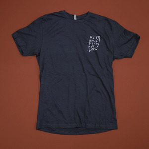 Topshelf Records - Hand Drawn Logo Pocket Print Shirt (Indigo)