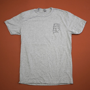 Topshelf Records - Hand Drawn Logo Pocket Print Shirt (Heather Gray)