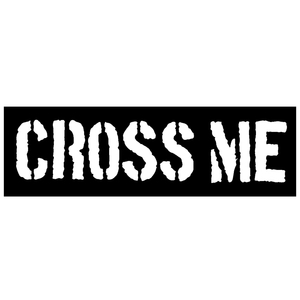 Cross Me 'Logo' Sticker