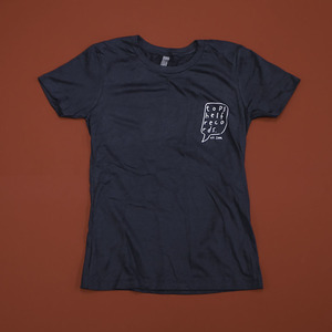 Topshelf Records - Hand Drawn Logo Pocket Print Women's Shirt (Indigo)