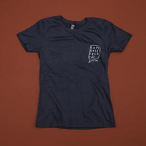 Topshelf Records - Hand Drawn Logo Pocket Print Women's Shirt (Indigo)