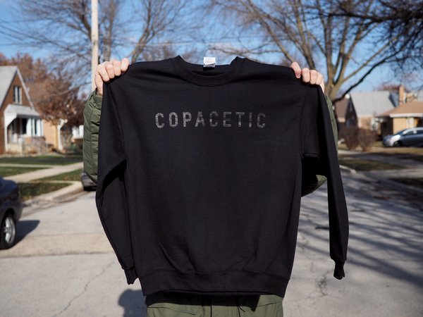 Copacetic Crewneck Sweatshirt - Black on Black