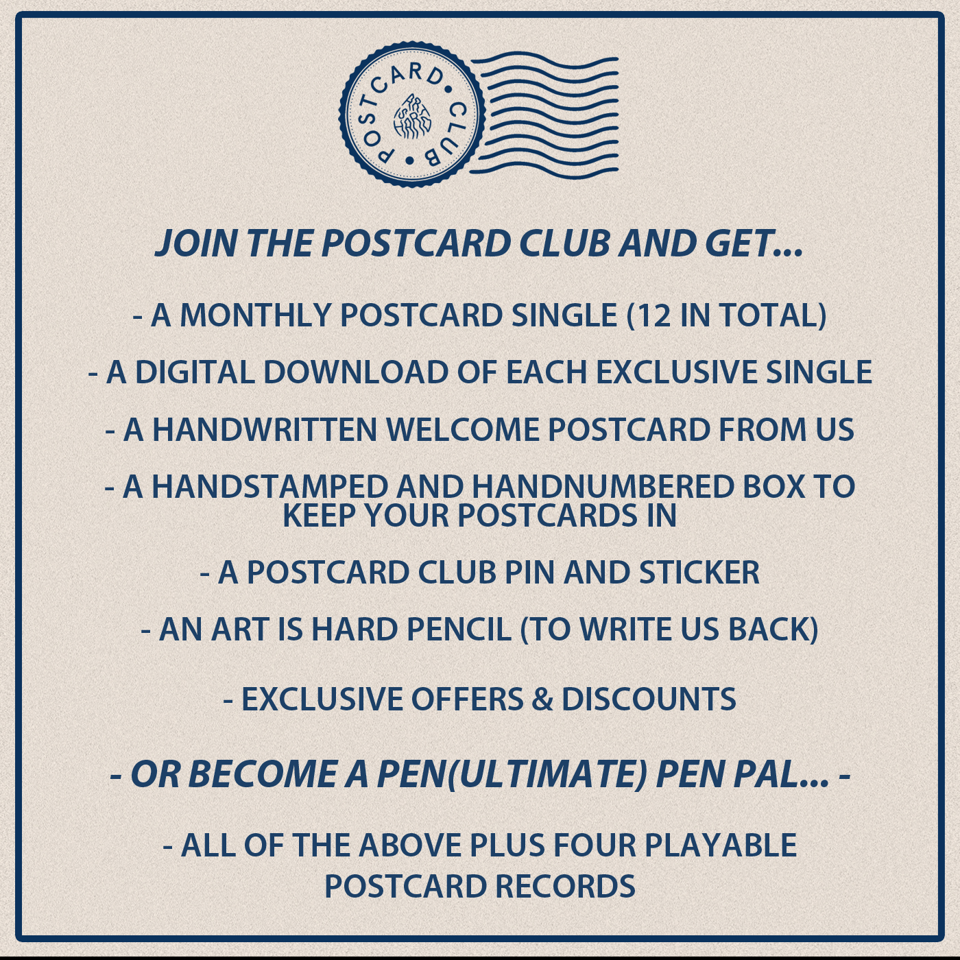 Postcard Club Subscription