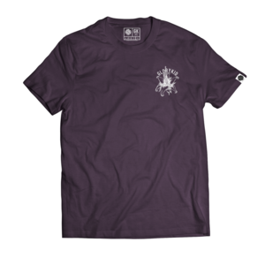Glory Kid - In Bloom T-shirt (Eggplant w/White)