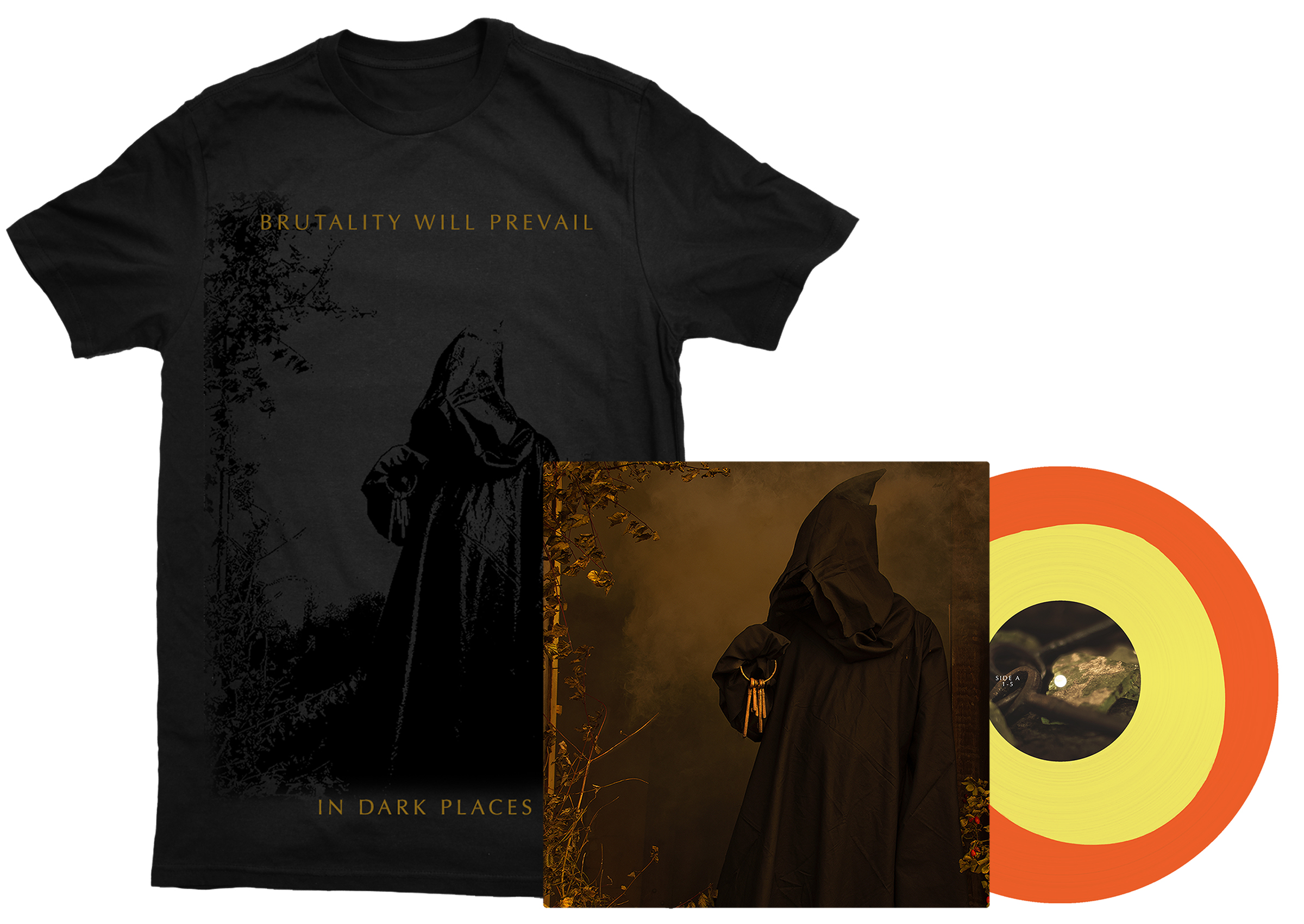 Brutality Will Prevail - In Dark Places shirt + LP