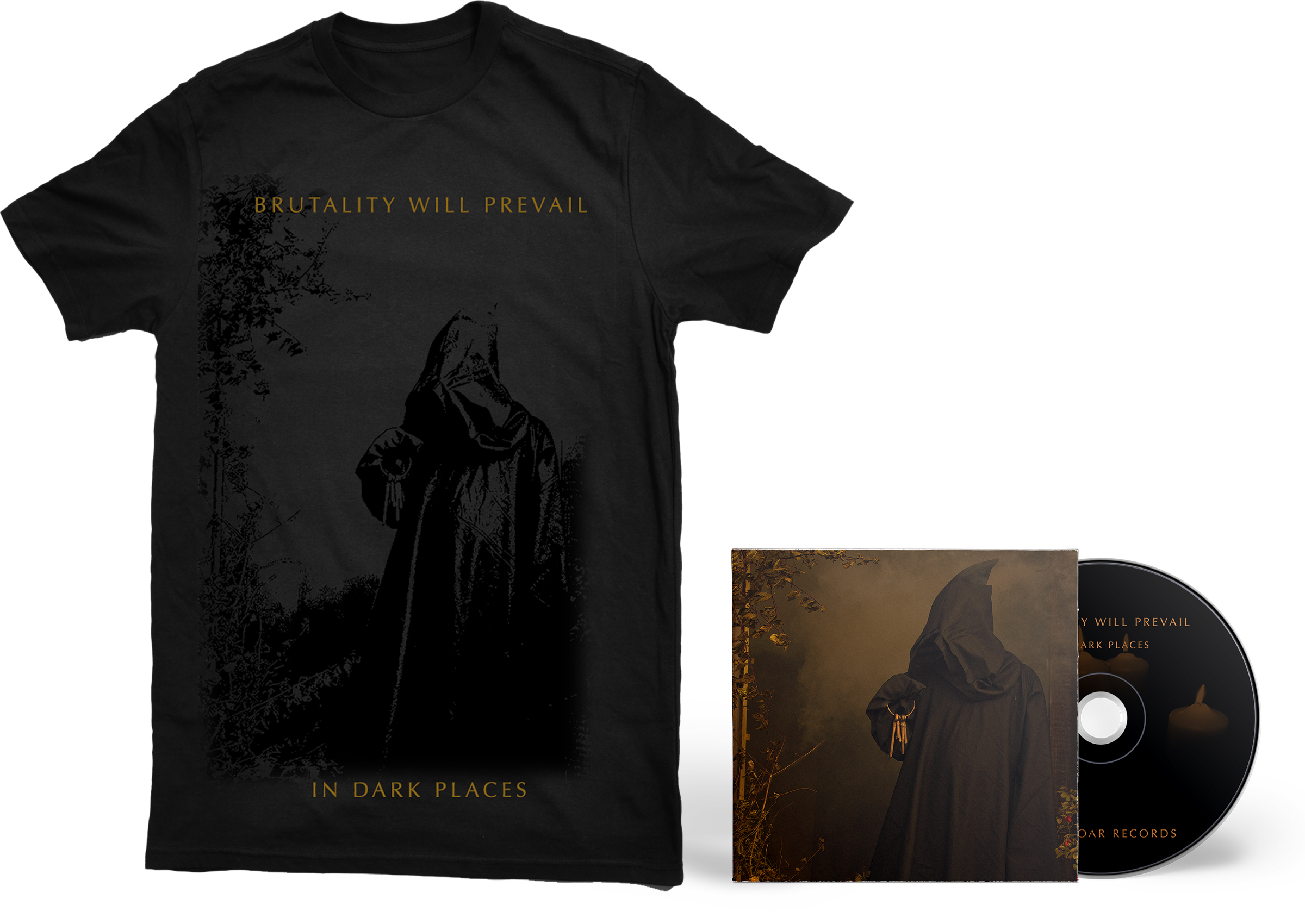 Brutality Will Prevail - In Dark Places shirt + CD