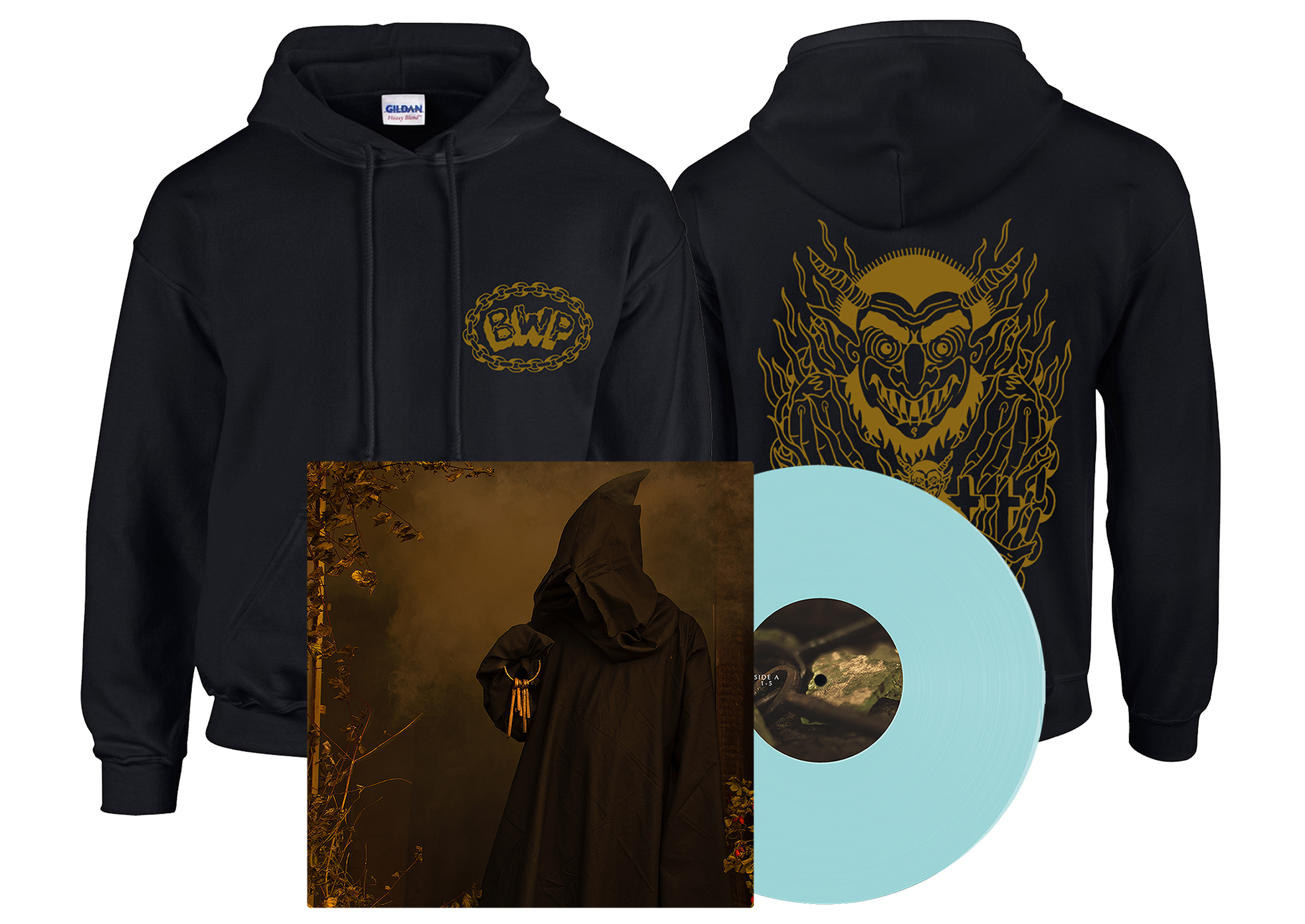 Brutality Will Prevail - In Dark Places hoodie + LP