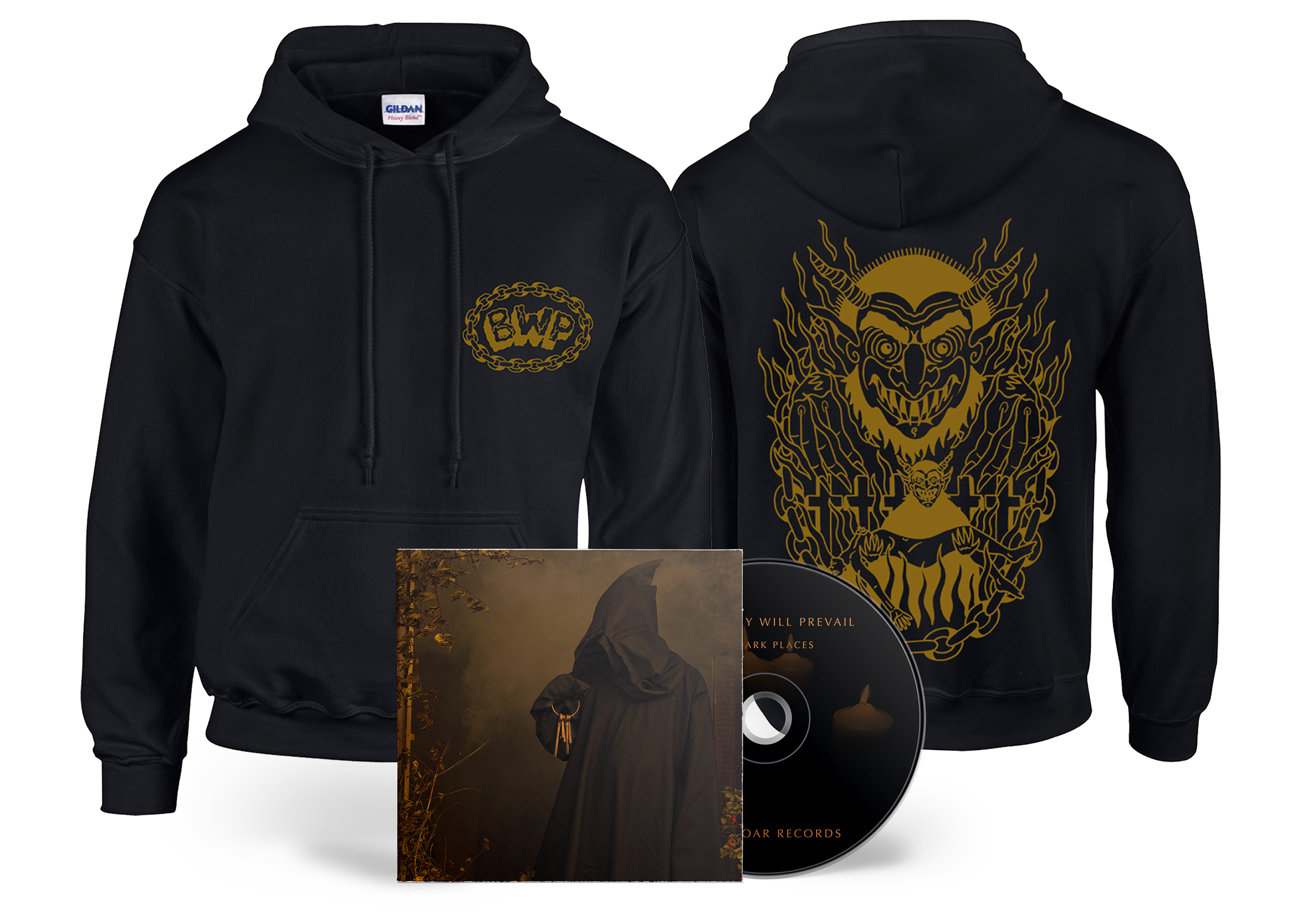 Brutality Will Prevail - In Dark Places hoodie + CD