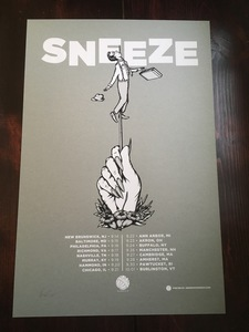 Sneeze - Northeast Tour 2016 Poster