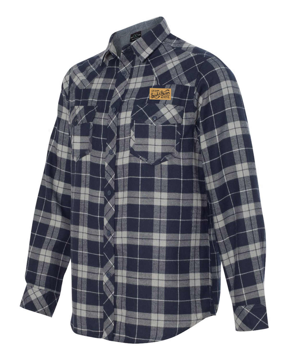 Sink or Swim Navy/Grey Flannel Shirt