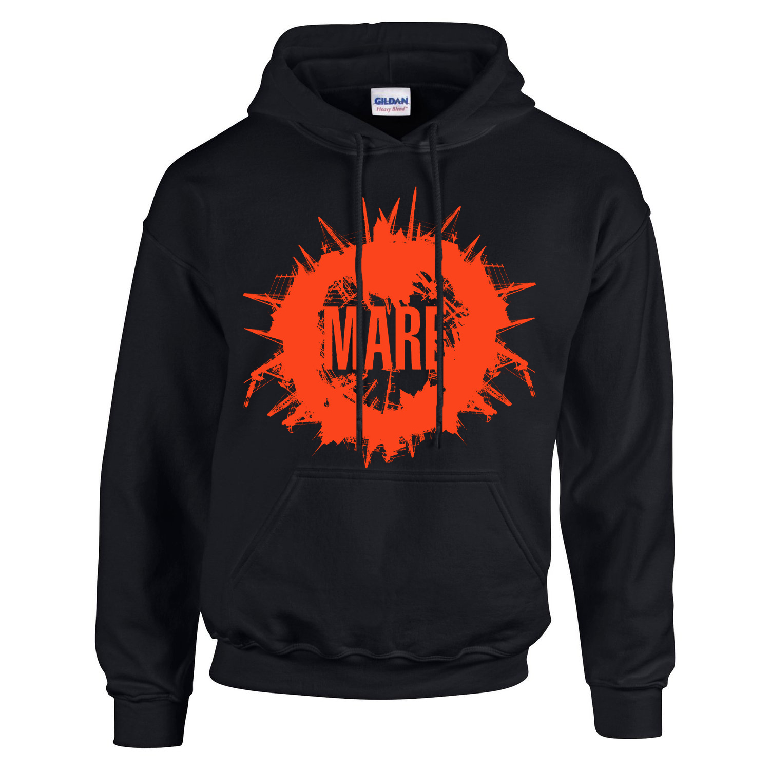 Mare - red logo hoodie