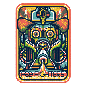 Foo Fighters The Cheese & Grain, Frome, Secret Show - Print