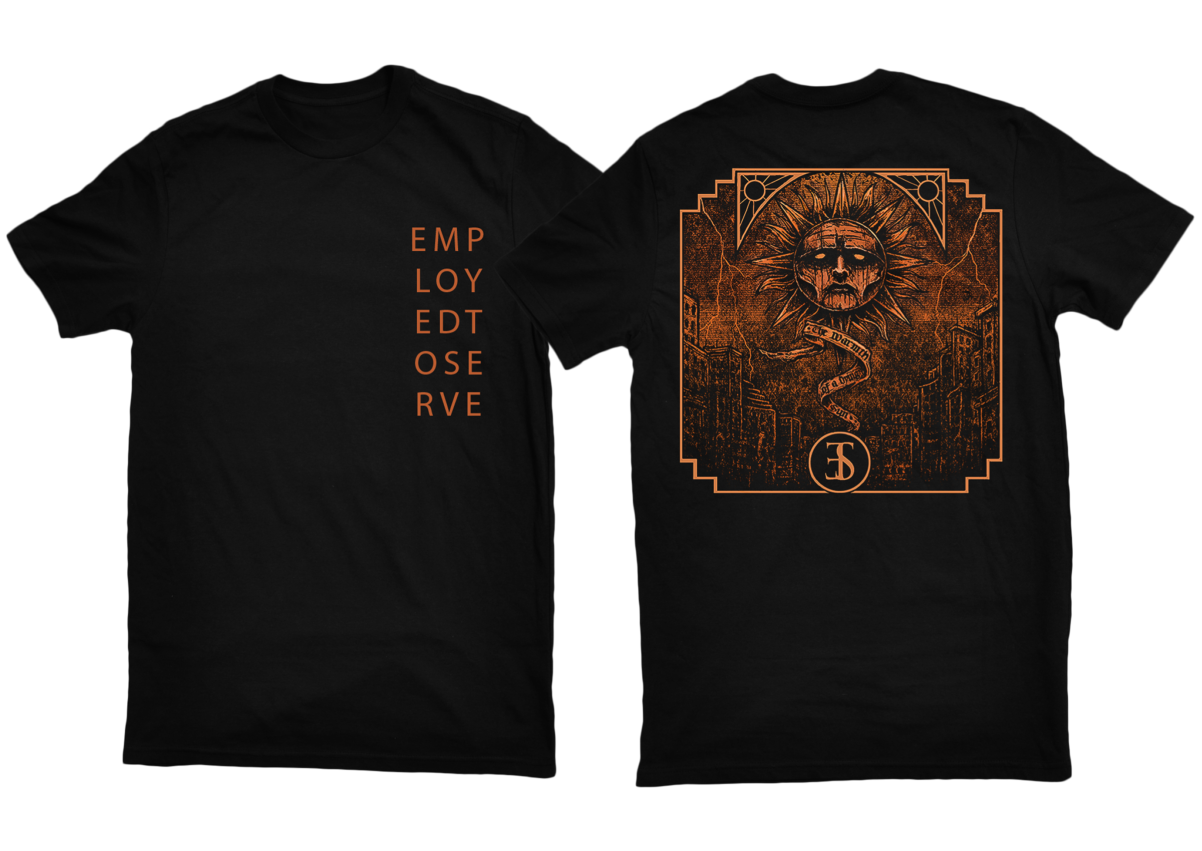 Employed To Serve - The Warmth Of A Dying Sun shirt PREORDER