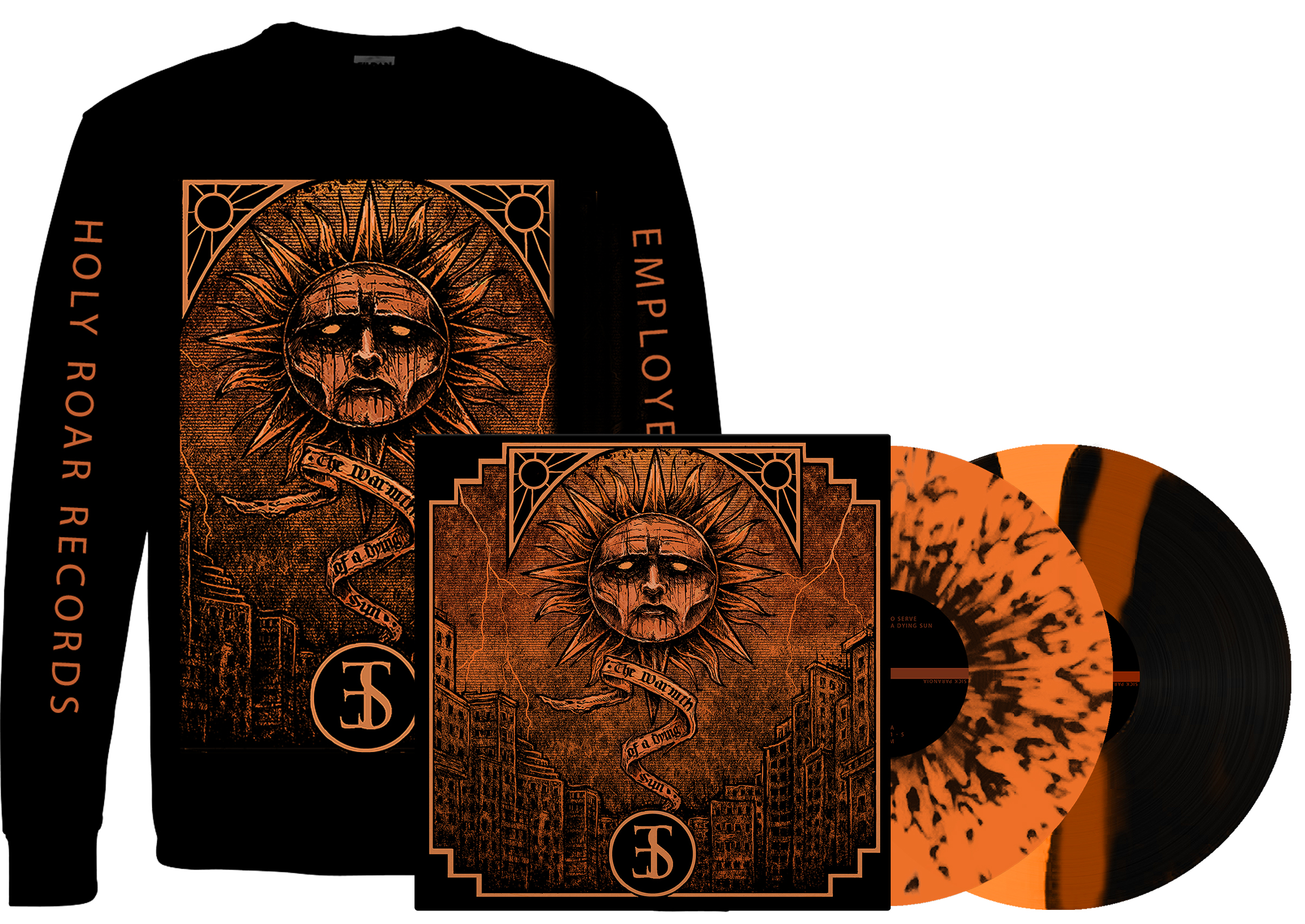 Employed To Serve - The Warmth Of A Dying Sun longsleeve + LP PREORDER