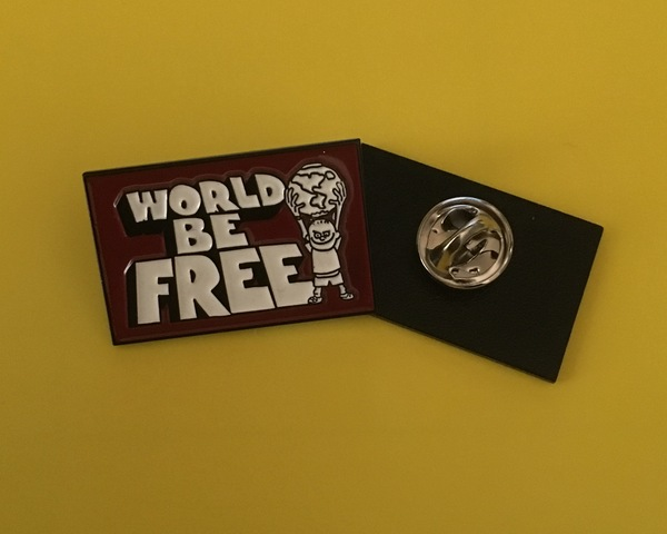 World Be Free Enamel Pin