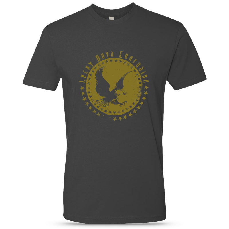 Heavy Metal Grey Unisex Reissue Eagle Tee