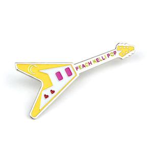 Peach Kelli Pop - Flying V Enamel Pin (Yellow)