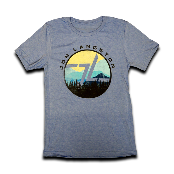 Georgia Unisex Mountain Tee- Color -Blue