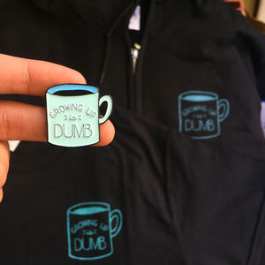 Growing Up Is Dumb Apparel w/ Free Enamel Pin