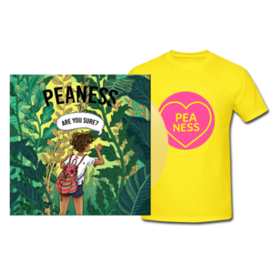 Peaness 'Are You Sure EP' 10trk Yellow Vinyl/CD and Tee - PREORDER