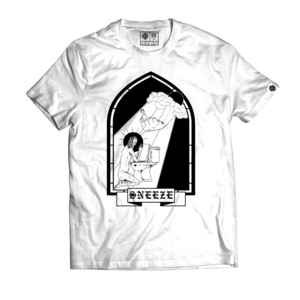 Sneeze - Black Window T-shirt (White)