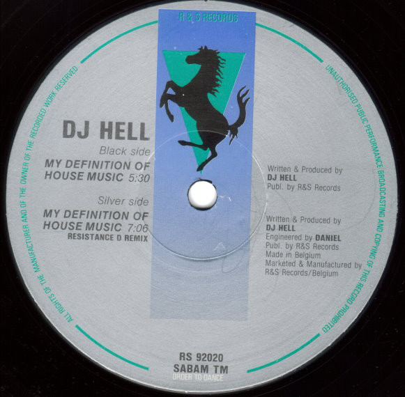 DJ Hell: My Definition Of House Music (R&S)