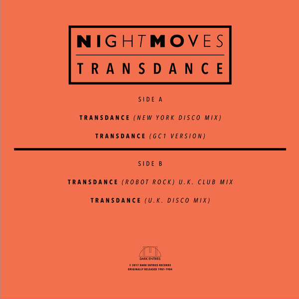 Night Moves: Transdance (Dark Entries)