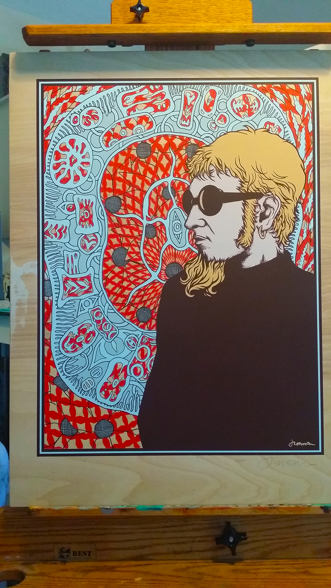 NEW - 'Wake Up, Young Man' (Layne Staley) Wood Panel Test