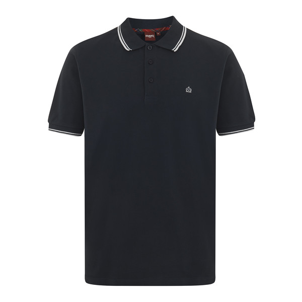 MERC Card Polo Shirt-Navy