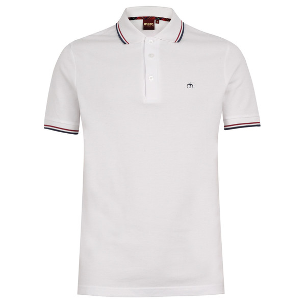 MERC Card Polo Shirt-White/B.Red