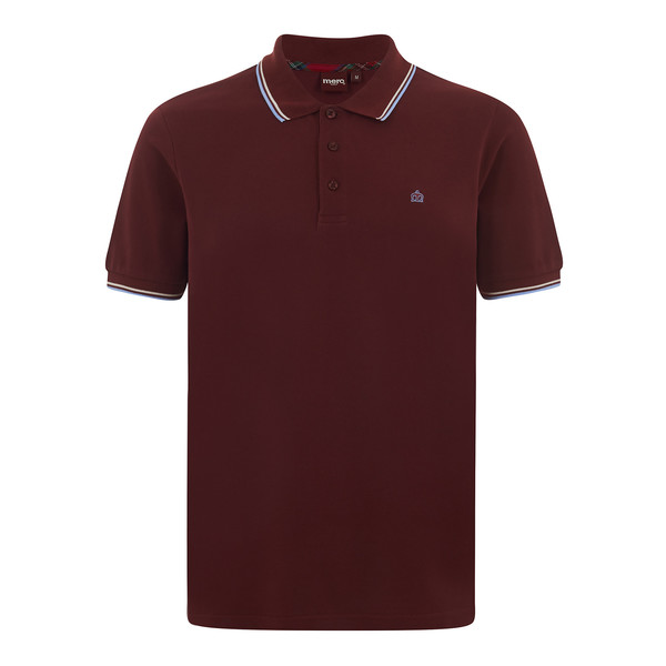 MERC Card Polo Shirt-Claret/Harmony