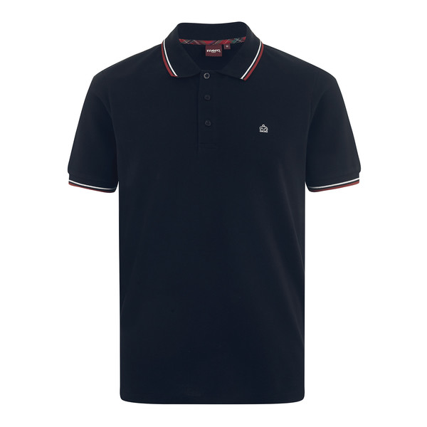 MERC Card Polo Shirt-Navy/B.Red