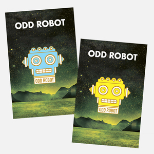 Odd Robot Enamel Pin Set