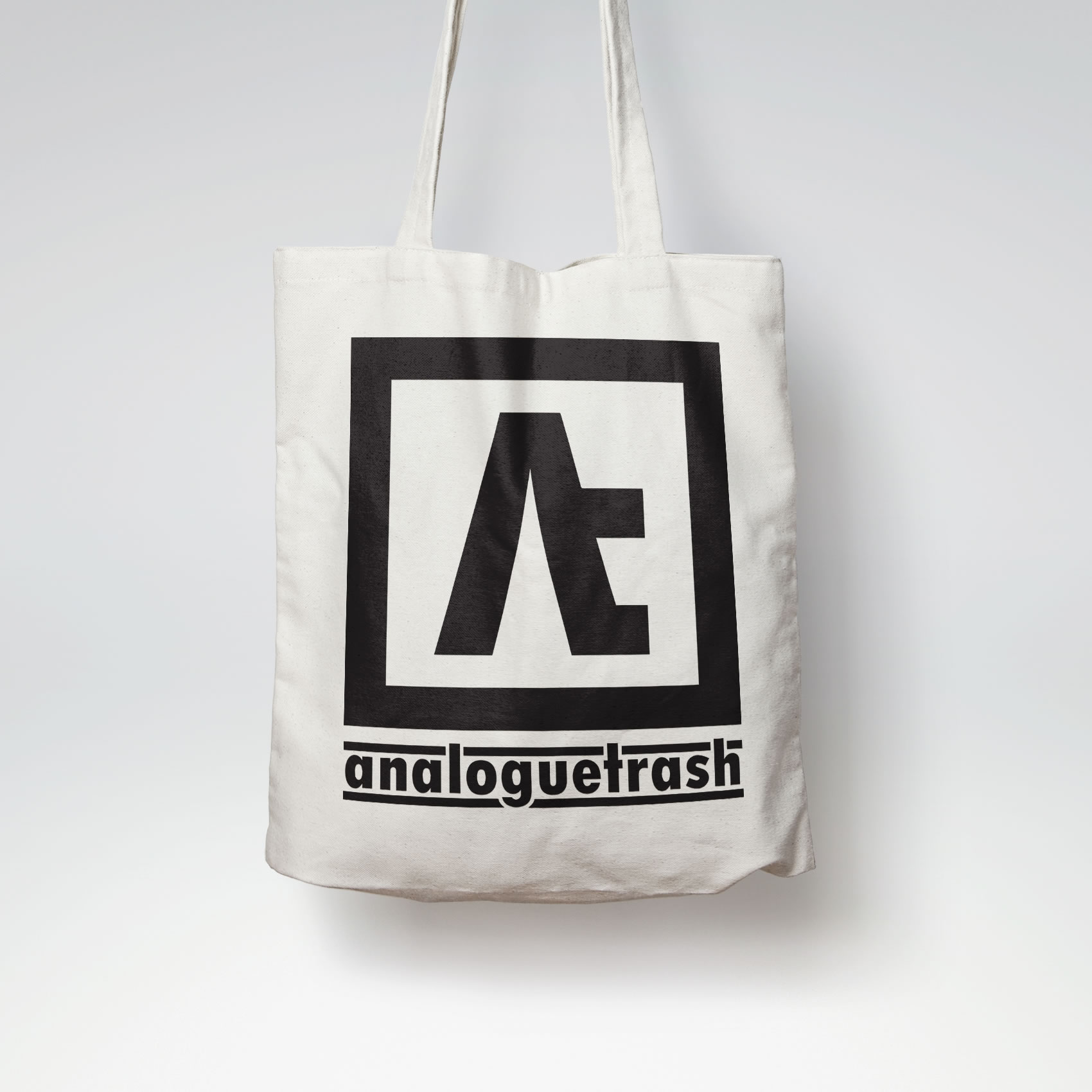 AnalogueTrash Logo Tote Bag
