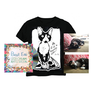 Best Ex - Ice Cream Anti-Social CD and Mildred Pizza Sufing Tee/ signed cat photo - PREORDER