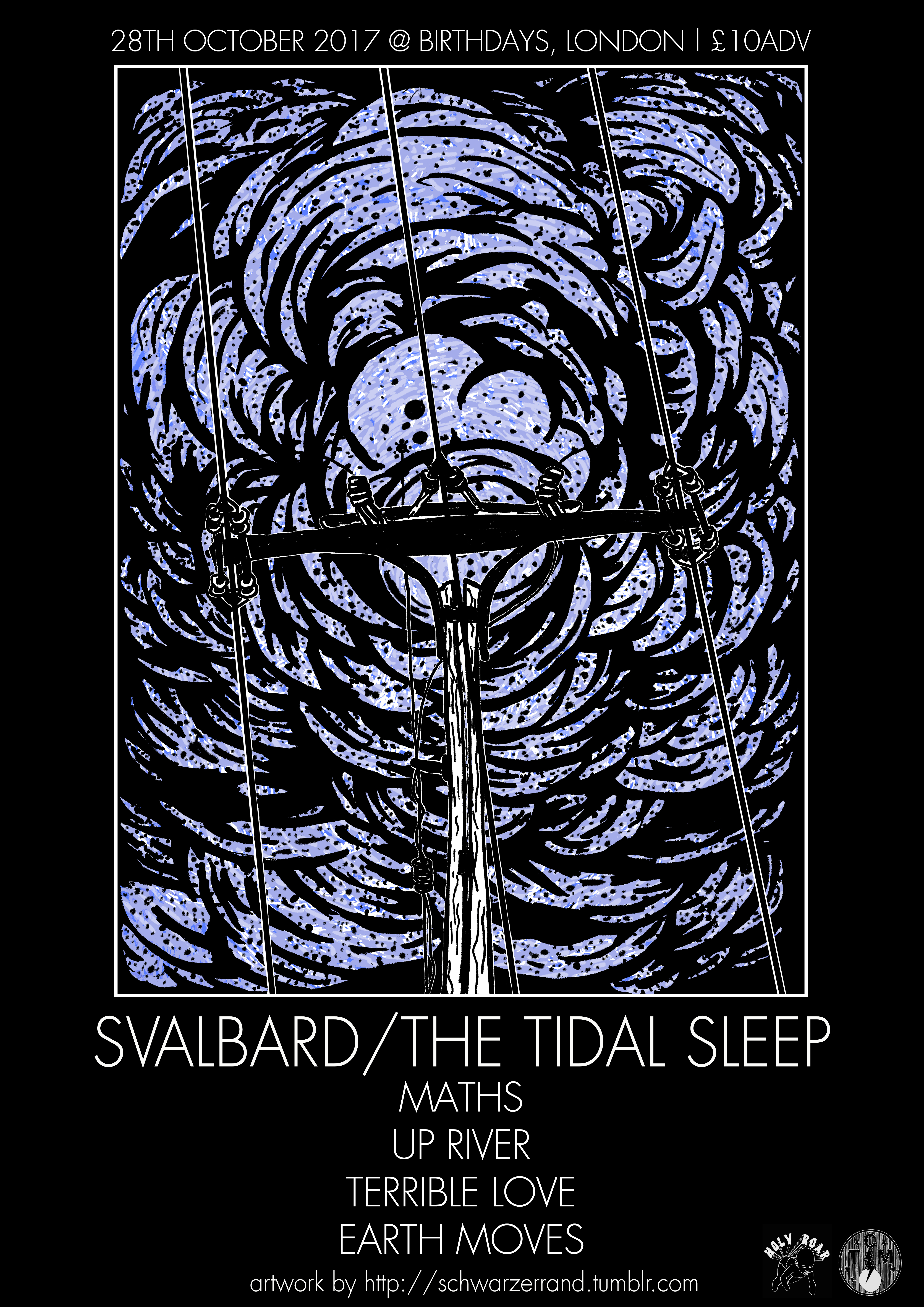 28th October 217: Svalbard // The Tidal Sleep + more @ Birthdays, London (E-TICKET)