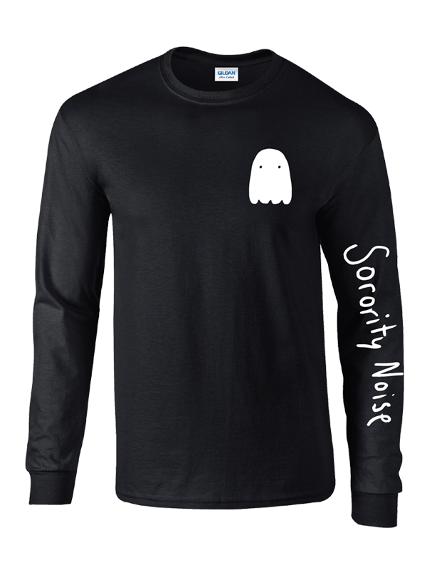 Ghost Long Sleeve Tee - Black