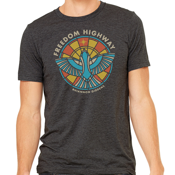 Freedom Highway Sparrow Charcoal T Shirt