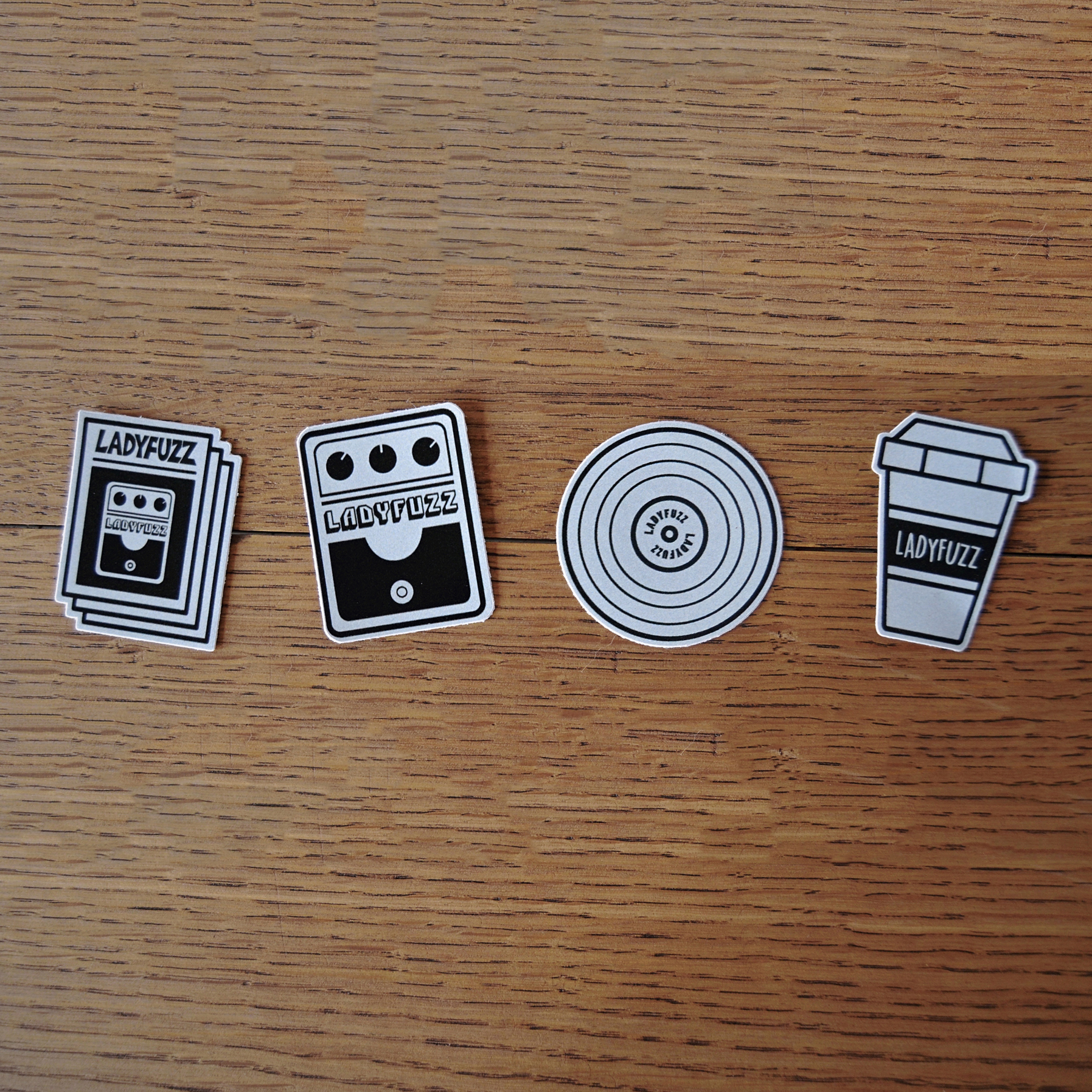 Ladyfuzz Sticker Set