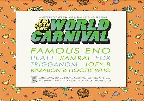 HIPSTERS DON'T DANCE & SWING TING: WORLD CARNIVAL