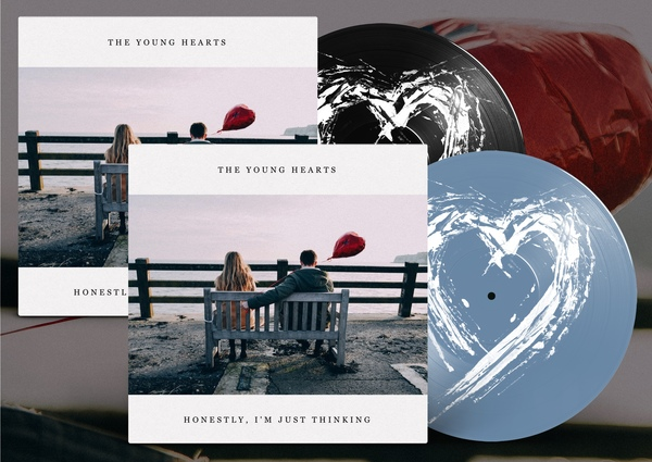 The Young Hearts BUNDLE - Honestly, I'm Just Thinking (black/blue vinyl)