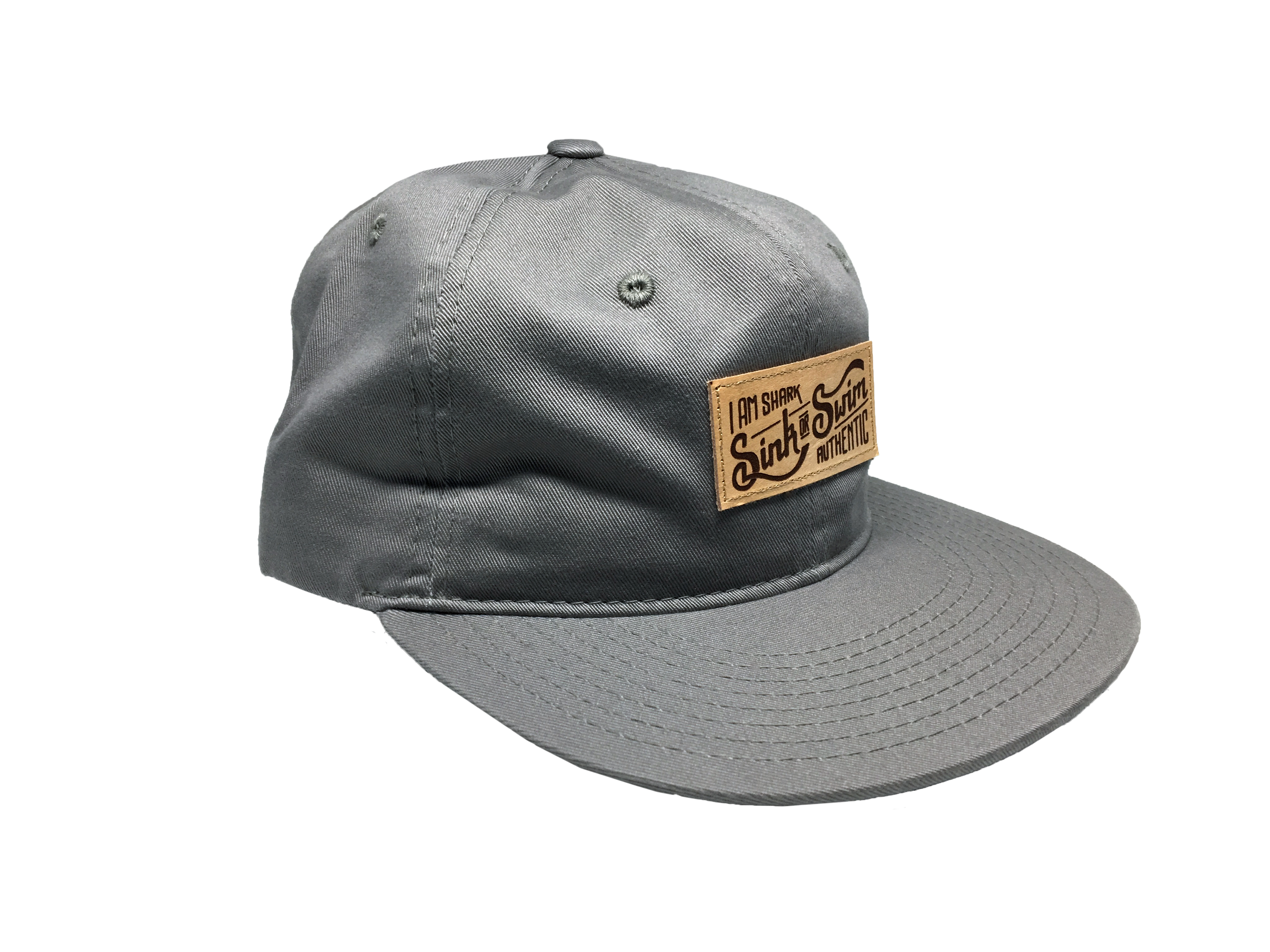 Relaxed Sink or Swim Snapback - Grey