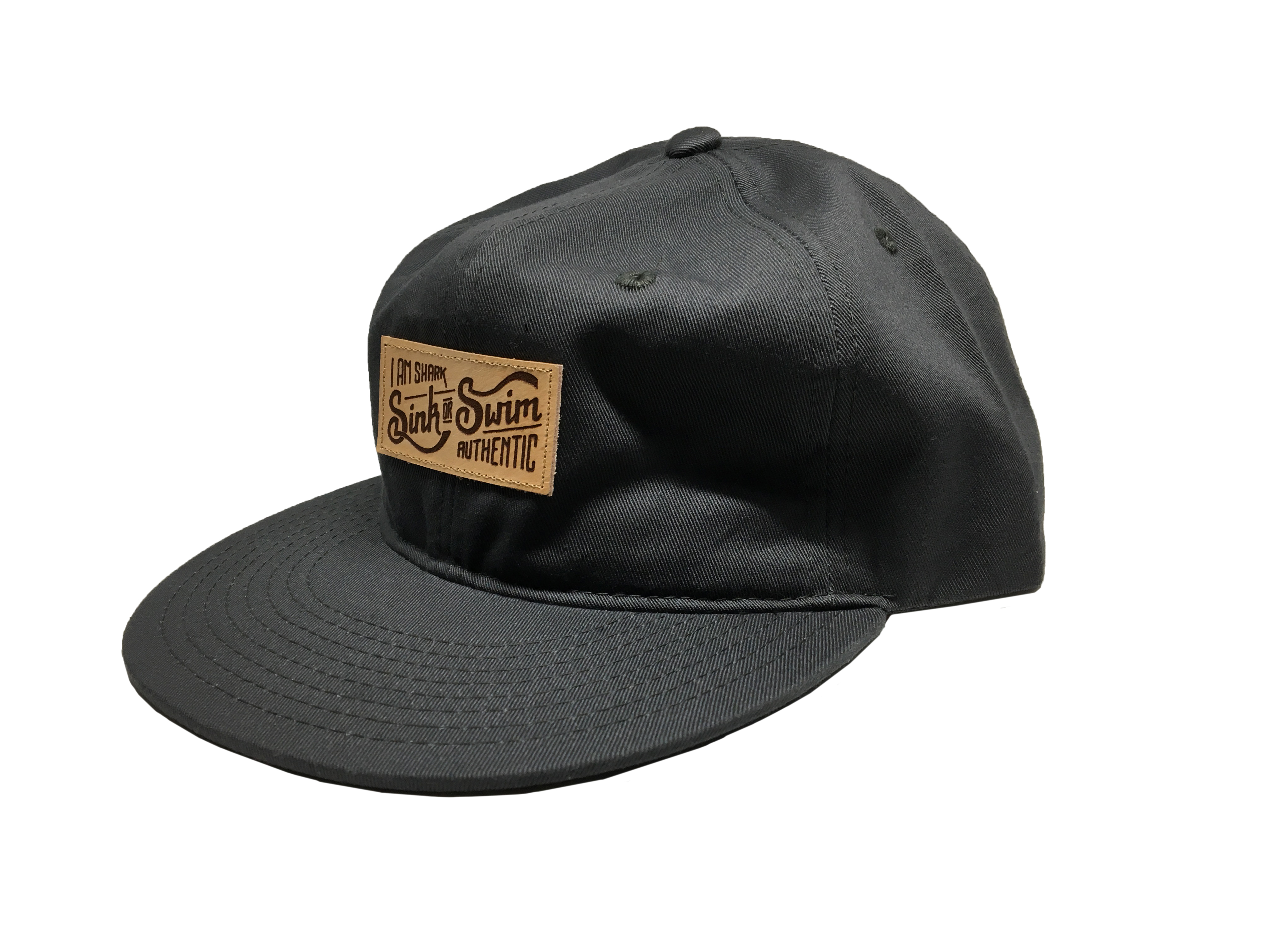 Relaxed Sink or Swim Snapback - Charcoal