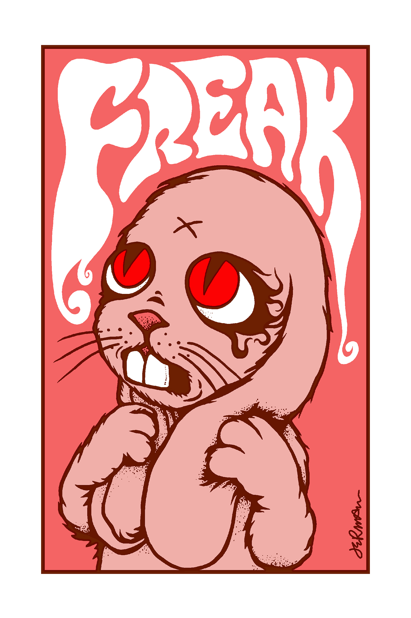 *New* 'FREAK' Mini Art Print (VARIANTS)