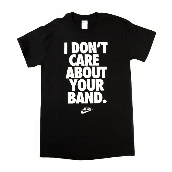 Kevin Devine - Don't Care T-shirt (Black)