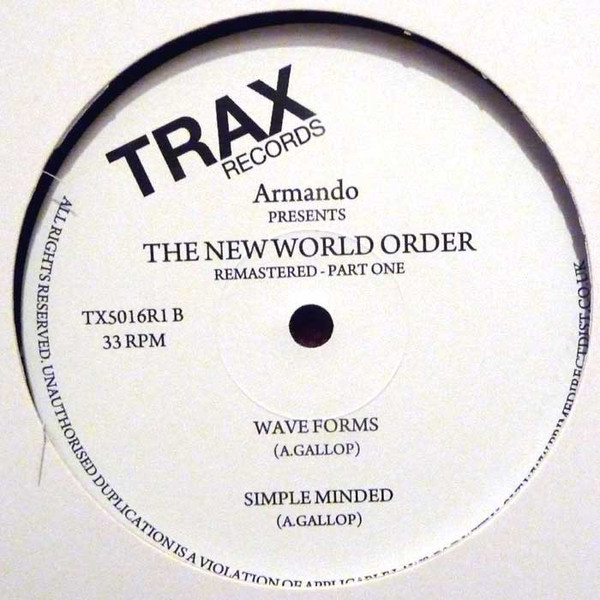 Armando – The New World Order (Part One) (Trax Records)