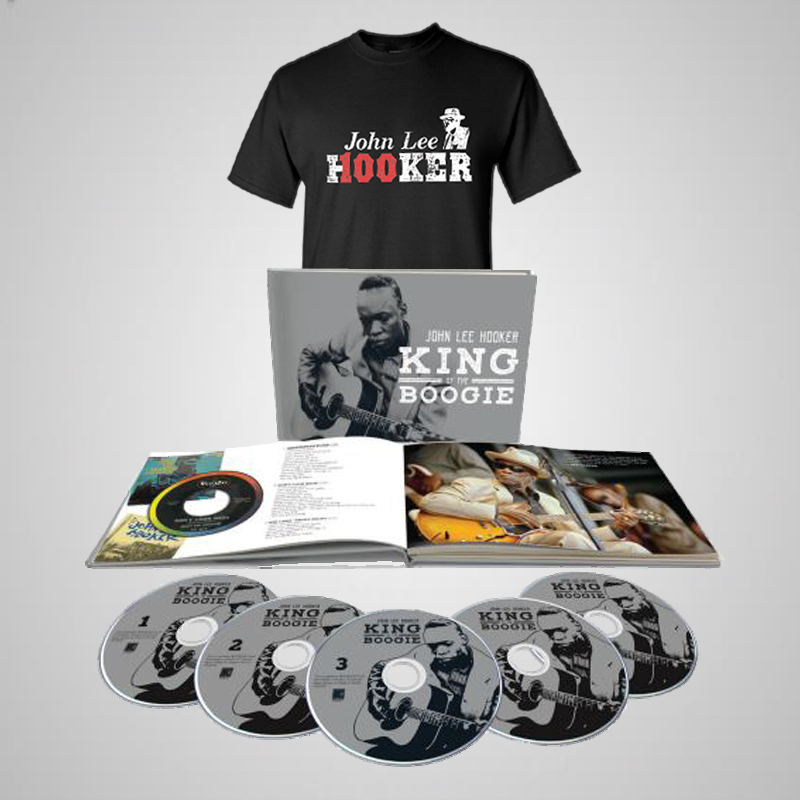 King of the Boogie 5 CD Book  + Hooker 100th Unisex Tee